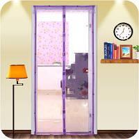 Антимоскітна сітка з візерунками на магнітах MAGIC MASH Violet москитная сетка на двери