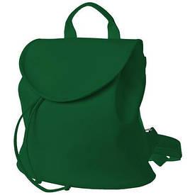 Рюкзак жіночий кожзам Mod MINI, смарагдовий колір