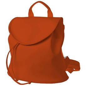 Рюкзак жіночий кожзам Mod MINI, морквяний колір
