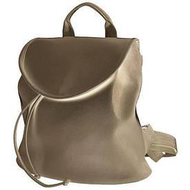 Рюкзак жіночий кожзам Mod MINI, колір золотий