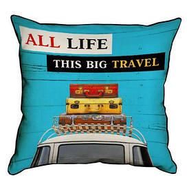 Наволочка декоративна 45х45 см All life this big travel