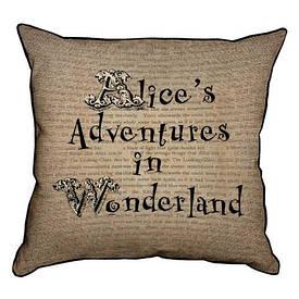 Наволочка декоративна 45х45 см alice's Adventures in Wonderland