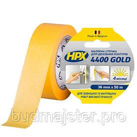 Стрічка малярна HPX 4400 Gold 36мм, 50м для чітких контурів