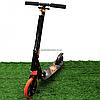 Самокат двухколесный BEST SCOOTER оранжевый, амортизатор, колеса PU, 200 мм, до 100 кг (213681)