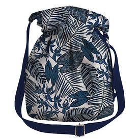 Женская сумка мешок Torba Тропические листья