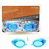 Очки для плавания детские INTEX, размер L, голубые (55684)