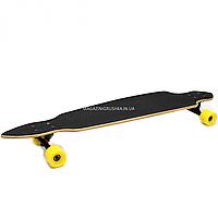 Скейтборд (лонгборд) с бесшумными колесами, 105х24 см, японский дракон, колеса PU, d = 7 см (C32021)
