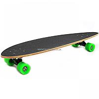 Скейтборд (лонгборд) с бесшумными колесами, 85х22 см, зомби, колеса PU, d = 7 см (C32027)