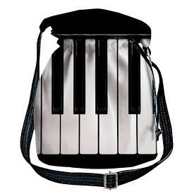 Женская сумка мешок Torba Клавиши пианино, музыка