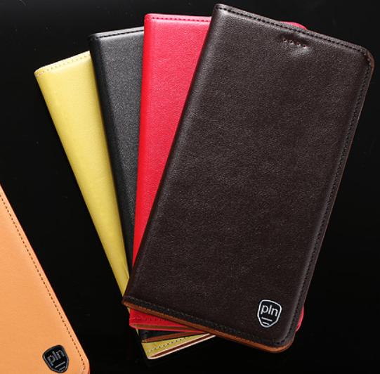 """Чехол книжка из натуральной кожи противоударный магнитный для Xiaomi Mi 8 lite """"CLASIC"""""""