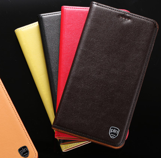 """Чохол книжка з натуральної шкіри протиударний магнітний для Xiaomi Mi 8 lite """"CLASIC"""""""