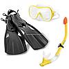 Набор для подводного плавания INTEX ласты, маска и трубка (55658)
