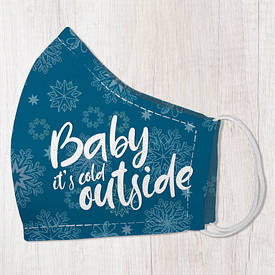 Маска защитная для лица, размер M-L Baby it`s cold outside