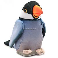 Мягкая интерактивная игрушка-повторюшка Попугай Колька серый, 18 см (M 1984)