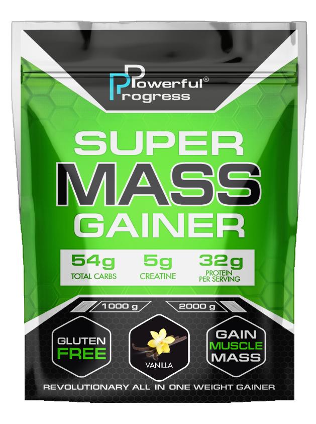 Гейнер Super Mass Gainer Powerful Progress 1 кг Ваніль