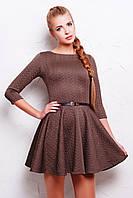 Женское коричневое платье с рукавом Фелита