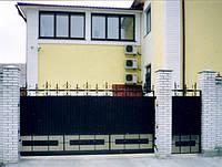 Ворота откатные, комбинированые, фото 1