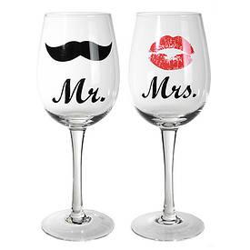 Набор бокалов Kiss & Moustache, 430 мл. (2 шт.)