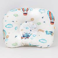 Детская ортопедическая подушка BabySoon Воздушные шары 22х26 см наполнитель высший сорт цвет молочный (544)