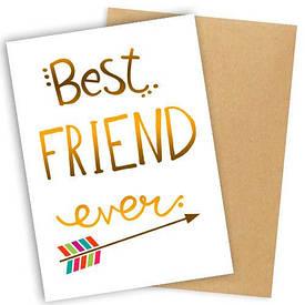 Открытка с конвертом Best friend ever