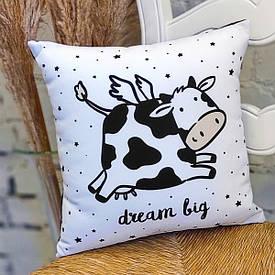 Наволочка для подушки 50x50 см Dream big