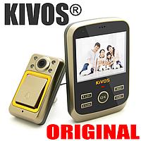"""Видеоглазок дверной цифровой для квартиры Kivos KDB01 с 3.5"""" экраном и фото/видео записью, угол 120°"""