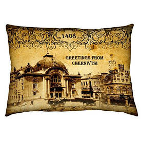Подушка з принтом 45х32 см
