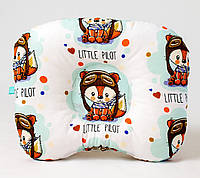 Детская ортопедическая подушка BabySoon Лисенок пилот 22х26 см наполнитель высший сорт цвет мятный (549)