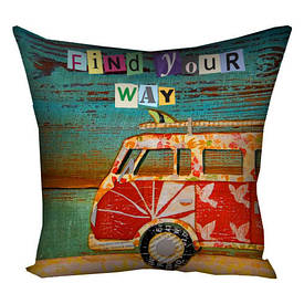 Наволочка для подушки 50х50 см Find your way