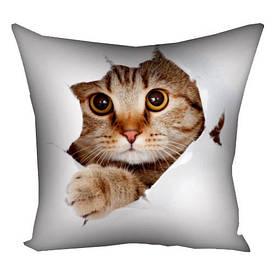 Подушка з принтом 40х40 см Кіт розбійник