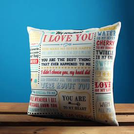 Наволочка для подушки 50х50 см I love you