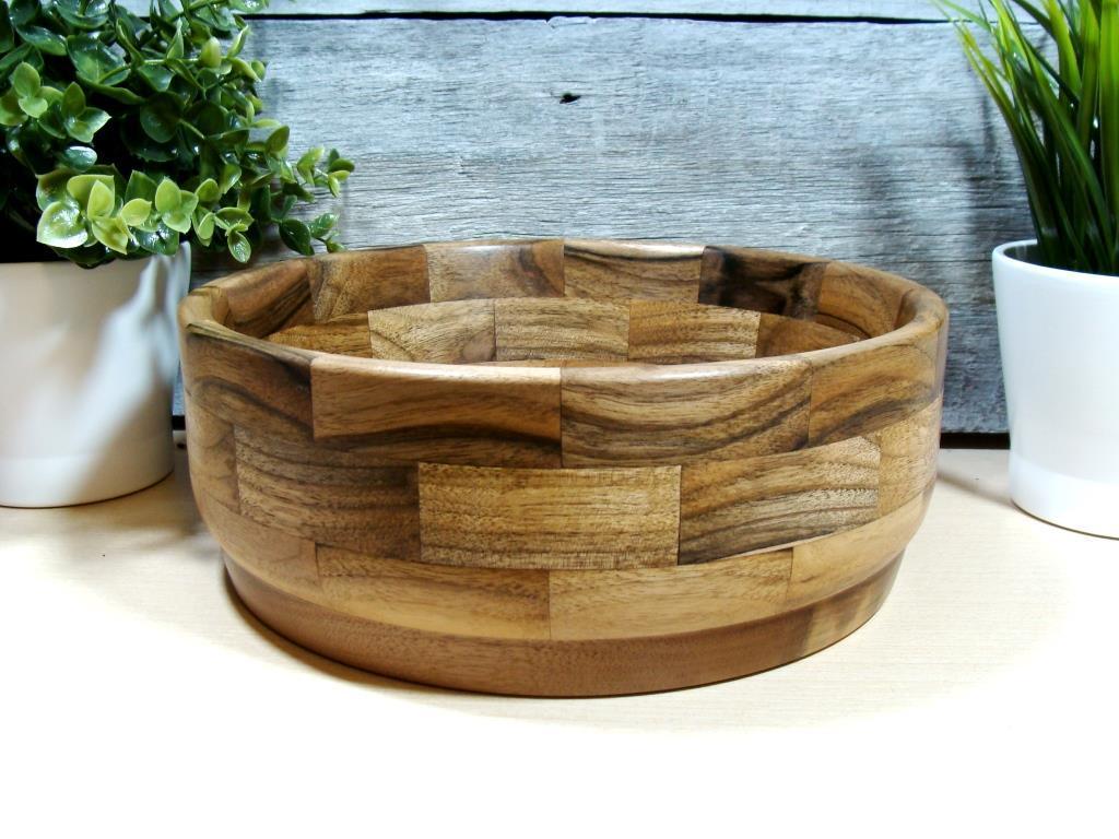 Дерев'яна сегментна цукерниця, тарілка, ваза для фруктів