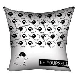Подушка з принтом 30х30 см Be yourself