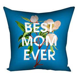 Подушка з принтом 30х30 см Best ever mom