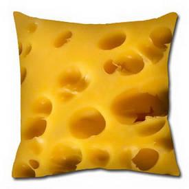 Подушка з принтом 30х30 см Сир