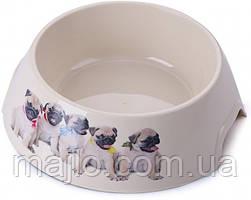 Миска пластиковая для собак P 1117-PP-B6 с принтом L 0.7 л (2000981121457)