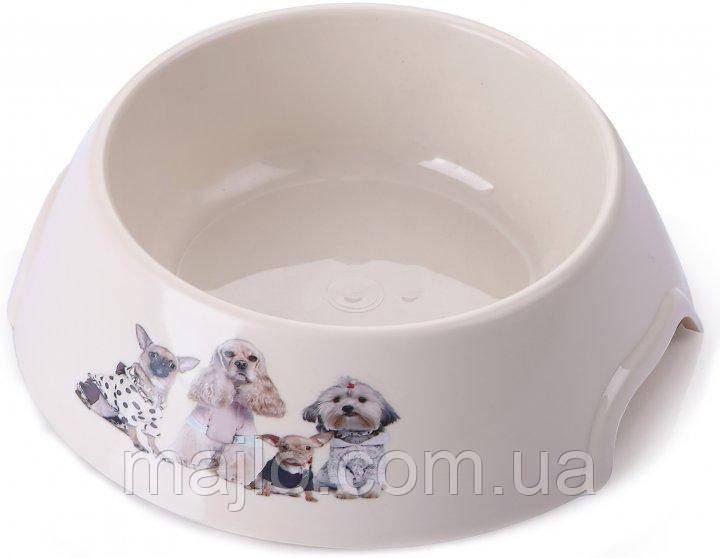 Миска пластик для кішок і собак P 1119-PP-B8 з принтом S 0.15 л (2000981121471)