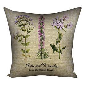 Подушка с принтом 40х40 см Botanical wonders