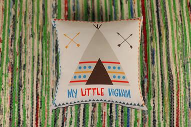 Подушка с принтом 40х40 см My little vigvam