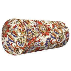 Подушка валик Квіти