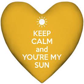 Подушка сердце Keep calm and you`re my sun