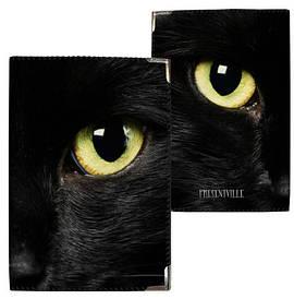 Обложка на паспорт Глаза черного кота