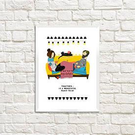 Постер в рамці A4 Together is a wonderful...