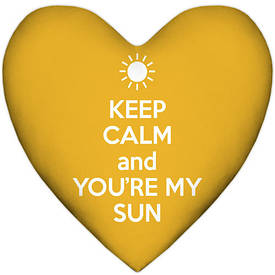 Подушка серце XXL Keep calm and you're my sun