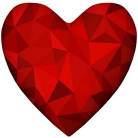 Подушка сердце XXL Алмаз
