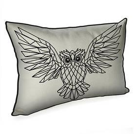 Подушка для інтер'єру 45х32 см Сова