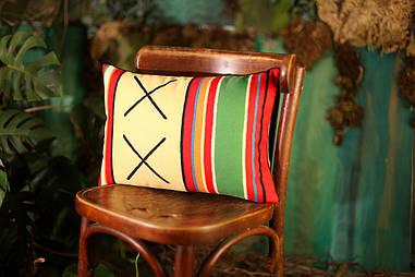 Подушка для интерьера 45х32 см Орнамент крестики