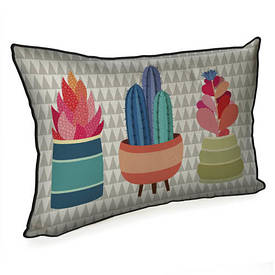 Подушка для интерьера 45х32 см Кактусы