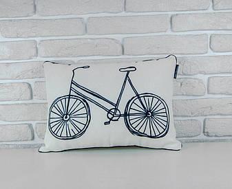 Подушка для інтер'єру 45х32 см Велосипед