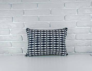 Подушка для інтер'єру 45х32 см Геометричний орнамент